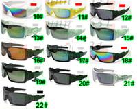 ingrosso occhiali da sole sportivi estivi-10PCS SUMMER ciclismo sport abbagliante occhiali moda occhiali da sole donne uomini rivestimento riflettente occhiali da sole 22 colori spedizione gratuita