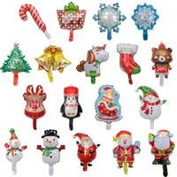 бамбуковый рождественский декор оптовых-Рождественские шары, С Рождеством Симпатичные Санта-Клауса Xmas Tree Снежинка Снеговик носки Unicorn пингвин конфеты на новый год украшения партии