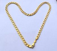 puro colar de ouro china venda por atacado-Europa Pura 24 K Ouro Fino Colar GF Sólida Stamep AU750 23.6