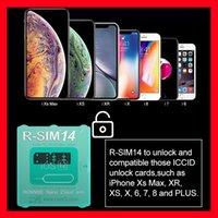 iphone unlock sim r großhandel-R-SIM 14 V18 R-SIM 14 RSIM14 R-SIM 14 RSIM 14 Entsperrkarte iphone xs max IOS12 iccid entsperren sim R-SIM14 von epacket