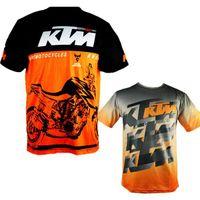 jersey mx mtb al por mayor-2017 hombres calientes de la venta KTM ocasional de la motocicleta camiseta Jersey manga corta aerolínea Jersey Motocross DH Downhill MX MTB transpirable Off-Road