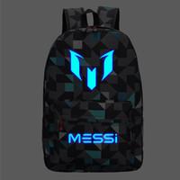 sacos de livro de escola preto venda por atacado-Messi mochila teen colégio high school bag para adolescente boy schoolbag homens negros mochila crianças livro saco de 2019