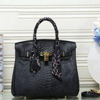 Wholesale mini orange buckets resale online - brand fashion Herms designer luxury handbags Purses alligator pattern tote shoulder bags women crossbody bag shopping bags