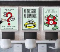 Wholesale monopoly art for sale - Alec Monopoly Pieces Home Decor HD Print Modern Art Canvas Unframed Framed