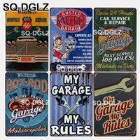 regra de metal venda por atacado-[SQ-DGLZ] New My Garage Minhas Regras Sinal Da Lata Serviço Do Carro Decoração Da Parede de Reparação de Metal Artesanato Pintura de Garagem Placas de Arte Poster