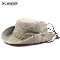 Wholesale ventilation cap for sale - Group buy XdanqinX Adult Men s Hat Summer Mesh Ventilation Retro Cotton Bucket Hats Novelty Dad s Sun Visor Fishing Hat Beach Caps