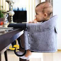 asientos rapidos al por mayor-Bebé portátil Silla de comedor Los niños Silla de viaje Asientos Gancho rápido en sillas de mesa Plegable Infantil comer Alimentación Highchairs A-821