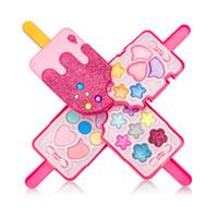 meninas compõem brinquedos venda por atacado-Forma de sorvete Crianças Meninas Kit de Ferramentas de Maquiagem Brinquedo Crianças Meninas Pretend Play Make Up Toys Box Cosmetics Play Sets Toy
