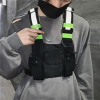 kampüs kitap çantaları toptan satış-Moda Göğüs Rig Çanta Kamuflaj Taktik Yelek Harness Ön Paketi Kılıfı Kılıf Yelek Rig Hip Hop Streetwear Fonksiyonel Göğüs Çanta SH190924