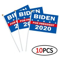 Wholesale waving flags resale online - 10pcs set I CAN T BREATHE WAVING FLAG cm BIDEN WAVING FLAG USA Election Flag Hands Shaking Banner Flags Styles GGA3431