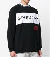 ingrosso moda yeezus-luxury brand Casual Pullover white yeezus Uomo autunno moda girocollo patchwork qualità maglia tuta maglione di marca