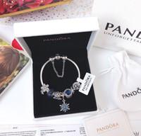bracelets style pandora achat en gros de-Authentique Perles En Argent Sterling 925 Charme De Fleurs Poétiques Convient Aux Bijoux De Bracelets De Style Pandora Européen 791825ENMX