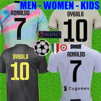 camisas de futebol ronaldo venda por atacado-Tailândia Adidas * EA Sports RONALDO juventus 2019 camisa de futebol DYBALA 18 19 camisa de futebol kit Top fãs versão do jogador homens mulheres crianças campeão liga Serie A