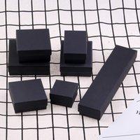 nakliye için mücevher halka kutuları toptan satış-En Kaliteli Siyah Kraft Takı Ambalaj Kutuları Bilezik Kolye Durumda Yüzük Küpe Kutusu Düğün Hediye Kutuları Özelleştirmek Boyutu Ücretsiz Kargo