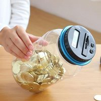 Wholesale electronics money resale online - Electronic Digital LCD Money Saving Box Counter Coin Storage Piggy Bank Montessori Educational Toys For Children Gift