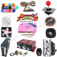 ingrosso gioco della macchina del tasto-Kit da 2 giocatori Arcade Kit Pandora box 6 1300 in 1 scheda di gioco e 5 Pin joystick American HAPP Style Push Button per Arcade Machine