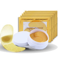 Wholesale stick patches resale online - NEW Crystal Collagen Gold Powder Eye Mask Golden Mask Stick To Dark Circles Hotsale Eye Patches