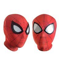 yetişkin demir adamı toptan satış-Ainiel Avengers Infinity Savaş Demir Örümcek Adam Maske Süper Kahraman Homecoming Örümcek Adam Cosplay Kostüm Cadılar Bayramı Kask Yetişkin Çocuklar için