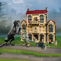 Wholesale plastic park resale online - 10928 Jurassic Park World Indoraptor Rampage At Lockwood Estate Building Block Bricks Toys Compatible Dinosaur Movie