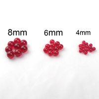 werkzeuge einfügen großhandel-New 4mm 6mm 8mm Rubin Terp Perlen Dab Perlen Insert Rauchen Werkzeuge für Schrägkante Quarz Banger Nails Glasbongs Dab Rigs Wasserrohre