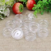 Wholesale free art samples resale online - 1000 g clear jar ml plastic Packaging Sample cream pot nail art glitter powder case Empty box