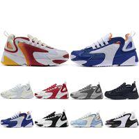 оранжевые синие кроссовки мужчины оптовых-Горячая распродажа M2k Tekno Zoom 2K ZM 2000 кроссовки для мужчин женщин тройной черный белый синий оранжевый мужские кроссовки мода кроссовки 36-45