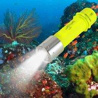 мощные xml-фонарики оптовых-Светодиодный фонарик для дайвинга Подводный фонарь повышенной мощности Lanterna Водонепроницаемый светодиодный фонарик 18650 аккумуляторная батарея XML-T6 1200LM Torch