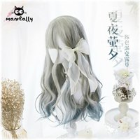 Wholesale hair daily full wig for sale - Group buy Princess Lolita Gradient Full Wig Cos NEW Long Curly Hair Daily Harajuku Party