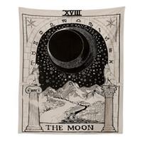 colgando de la luna al por mayor-Tapiz colgante Sun Star Moon Tapiz Manta colgante de pared Alfombra de pared Alfombra de yoga Decoración para el hogar Hippie Yoga Mat