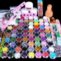 Wholesale nail art kit for sale - 78 Pieces Acrylic Powder Manicure Nail Art Kit Glitter for Nails DIY Acrylic Rhinestone Glitter Nail Tips Gems Decoration Kit