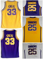 Wholesale jerseys for basketball resale online - TOP Trainers O Neal SIMMONS College Basketball jerseys University online shopping stores for sale best sports College Basketball wear