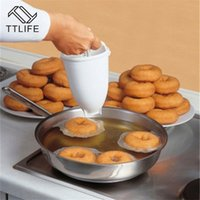 Wholesale tools dispenser resale online - Pastry Cutters TTLIFE Donut Making Tool Maker Dispenser Donut Making Artifact Creative Dessert Mold DIY Confectionery Pastry Baking New