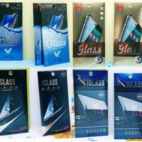 ingrosso carta in alluminio-Confezione al dettaglio UV Scatola di carta in alluminio per iPhone XS Max XR X 8 Plus Pellicola salvaschermo in vetro temperato per Samsung Huawei
