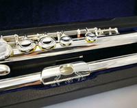 RODWARE RFL-210 flowery Engraved Pattern 16  17 Closed  Open Flute Silver Plated Split E Mechanism C   B Foot