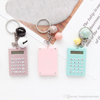Wholesale cute electronics resale online - Mini Electronic Calculator Keychain Creative Portable Student Mini Pocket Calculator Keyring School Home Office Cute Calculators BH1270 TQQ