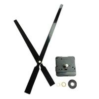 большие механические настенные часы оптовых-Оптовая 10 шт. 22 мм Вал высокий крутящий момент черный металл большой механические часы ремкомплект для DIY настенные часы