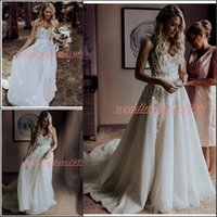 Wholesale daffodil charms for sale - Group buy Charming Sweetheart Wedding Dresses With Applique Lace A Line Sleeveless Plus Size Bridal Gown Vestido de novia Arabic Bride Ball Formal
