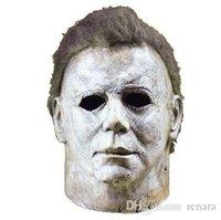 máscara de filme de látex venda por atacado-Michael Myers Máscara Halloween 2019 Filme de Terror Cosplay Adulto Látex Capacete de Cara Cheia Festa de Halloween Adereços Assustadores