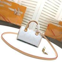 mini bolsa de cor branca venda por atacado-SPEEDY MINI bolsas saco de travesseiro saco de couro de qualidade M92645 bolsa de marca designer de moda bolsa diagonal cor branca cor preta