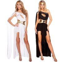cosplay romano sexy venda por atacado-Lingerie Sexy Deusa Grega Romano Senhoras Egípcias Cosplay Halloween Fancy Dress Traje LS765