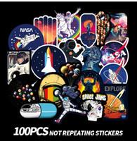 computadores para crianças venda por atacado-100 espaço Kids Stickers que não repetem o espaço Kids Cartoon Computer Scooter Adesivos
