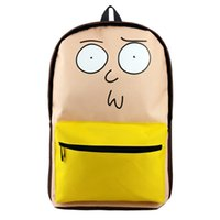 Wholesale cartoon clear backpacks resale online - Rick and Morty Cartoon Backpack Dragon Ball Travel Bag ONE PIECE High Quality Bag for Cosplay Gift