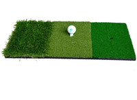 indoor-golf-trainingshilfen großhandel-12''x24''Golf Schlagmatte Indoor Outdoor Hinterhof Tri-Turf Golf Matte mit Tees Loch Praxis Golf Protable Trainingshilfen