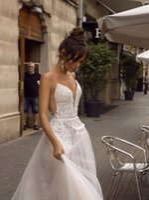 fada sexy 3d venda por atacado-A Linha Sem Costas Vestido de Noiva 2019 sexy cintas de espaguete vestido nupcial 3D Lace Flores da fada do casamento de praia Dresses2