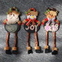 Wholesale blackboard home decor resale online - Christmas Decor Small Blackboard Hanging Leg Doll Ornaments Christmas Tree New Year Hanging Decorations For Home Enfeites Natal
