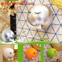 Wholesale bathroom paper napkin holder resale online - Ball Shaped Tissue Boxes Facial Expression Bathroom Toilet Tissue Holder Waterproof Toilet Paper Box Holder Hanging Napkin Container