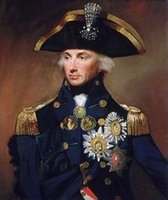 Wholesale royal paintings online - Lord Nelson British Royal Navy Admiral Portrait Handpainted HD Print Figure Oil Painting Wall Art On Canvas Hero of Napoleonic Wars P107