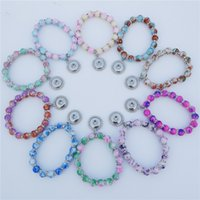 Wholesale rhodium spacer beads for sale - Group buy 12mm Snap Buttons Bracelet Glass Beads Rhinestone Spacer Children Girls cm Length Bracelet Kids Jewelry Mix Colors