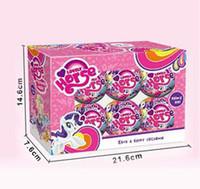 küçük kız oyuncakları toptan satış-1/3/6 adet Bebekler Için LOL Karikatür Küçük At Unicorn Sürpriz Için Gökkuşağı Topu Hayvan Action Figure Oyuncak Anime Kız Doğum Günü Hediye