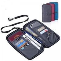 Wholesale travel cards online - Passport Organizer Bag Colors Travel ID Card Wallet Waterproof Credit Card Holder Cellphone Money Bag OOA6146